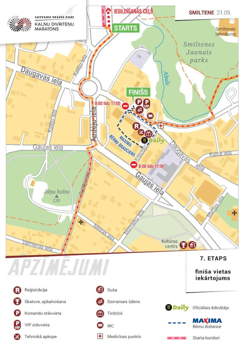 Latvijas valsts mežu Kalnu Divriteņu maratona laikā Smiltenē gaidāmi satiksmes ierobežojumi