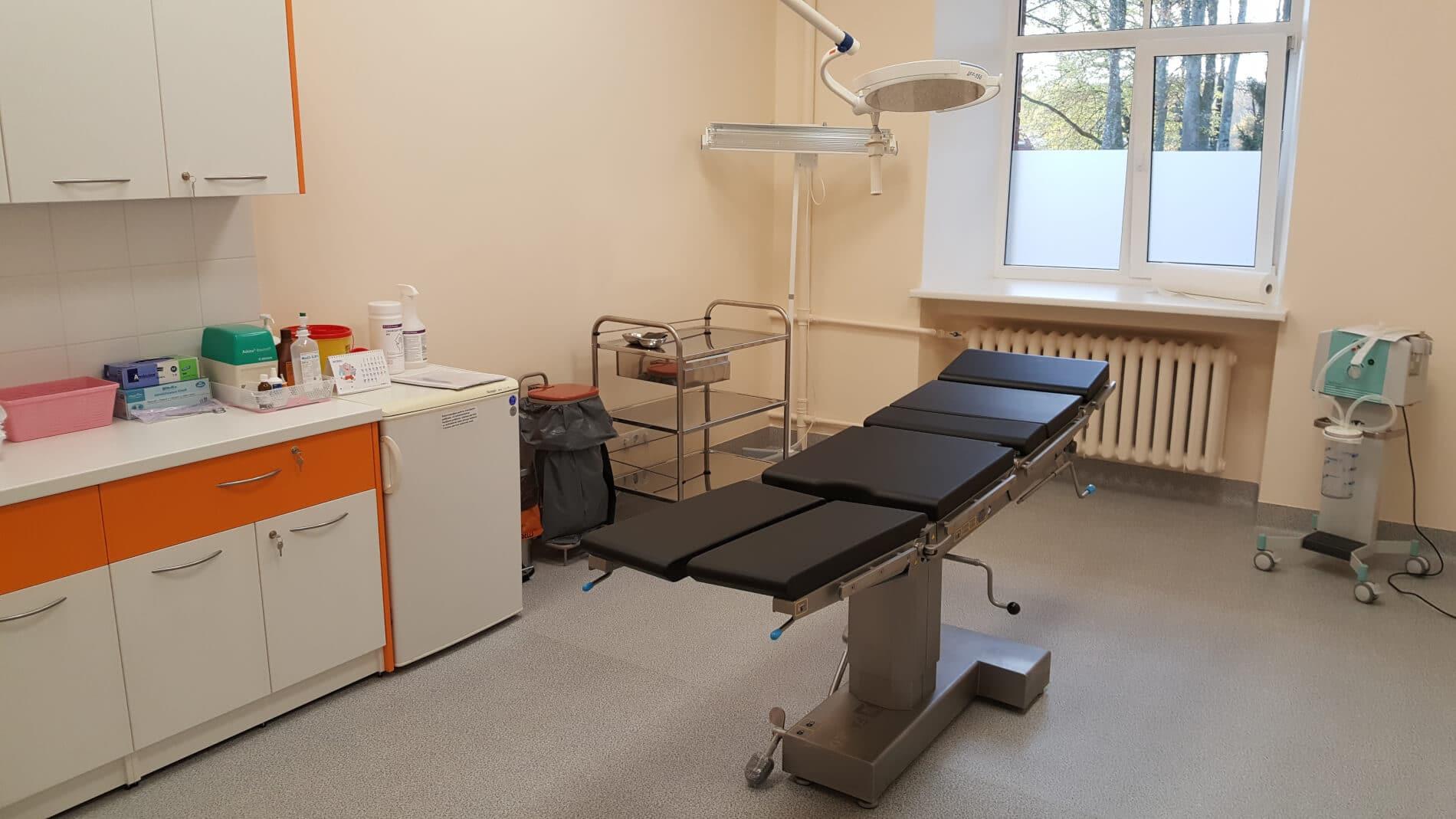 Pabeigti telpu vienkāršotas atjaunošanas darbi un iegādātasjaunas medicīniskās tehnoloģijas