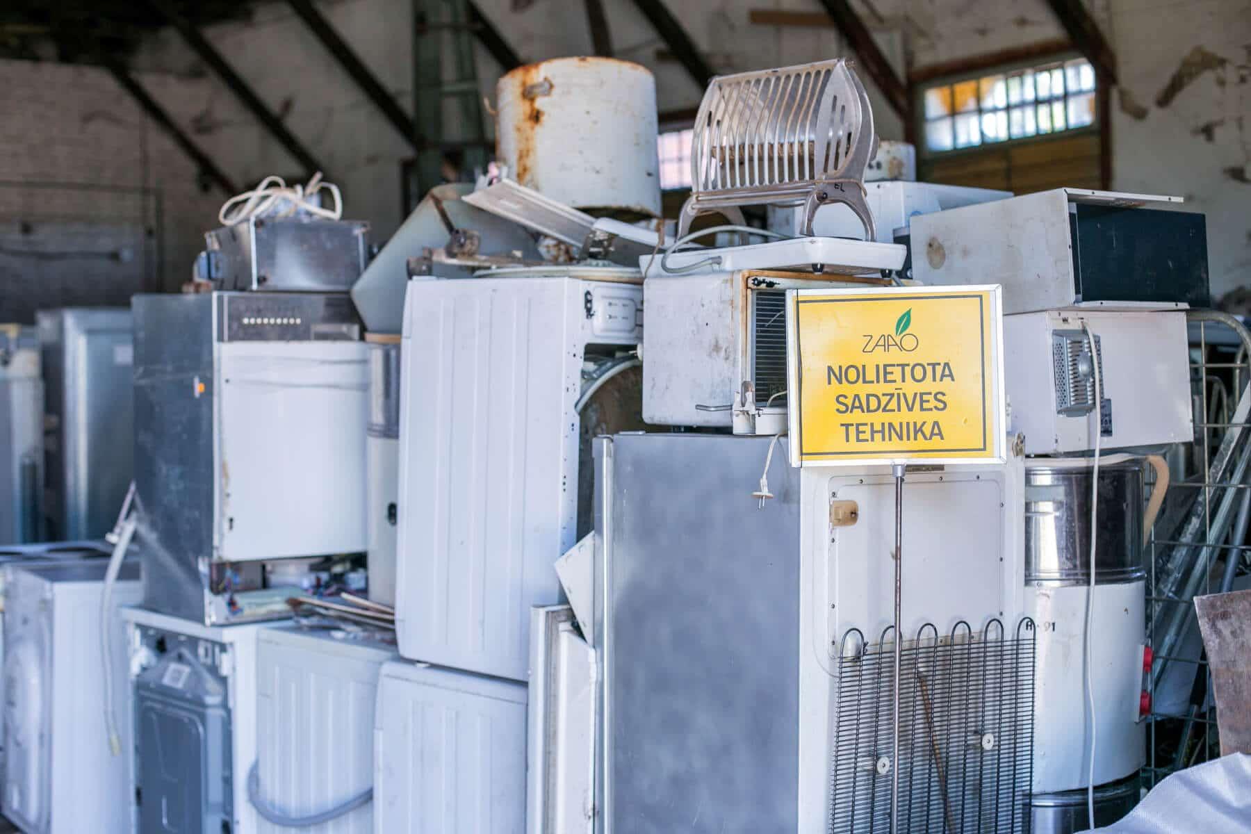 Iedzīvotāji akcijas laikā nodod 35.5 tonnas nolietotu elektrotehniku