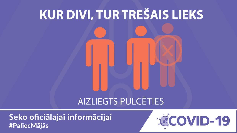 Tiek ieviesti stingrāki personu fiziskās distancēšanās noteikumi COVID-19 izplatīšanās ierobežošanai