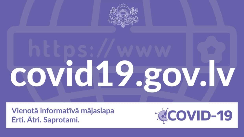 Izveidota vienota informatīvā Covid-19 mājaslapa