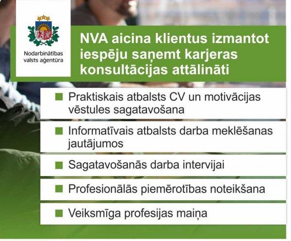 NVA piedāvā iespēju saņemt karjeras konsultācijas attālināti