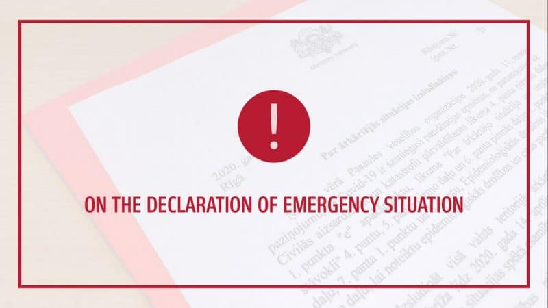 Emergency situation in Latvia to restrict the spread of Covid-19