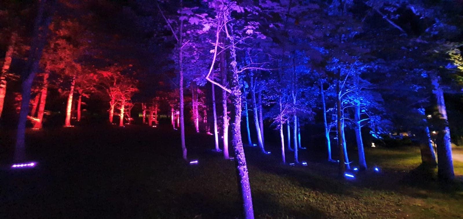 Ieskaties, kā top skaņas, gaismas un video instalācijas Vecajā parkā