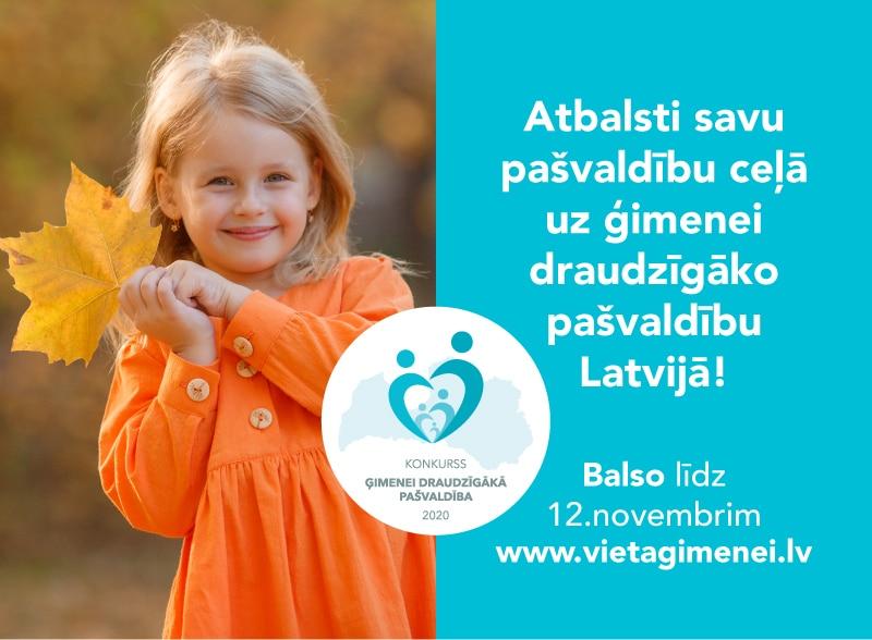 Līdz 12. novembrim aicina balsot par ģimenei draudzīgāko pašvaldību