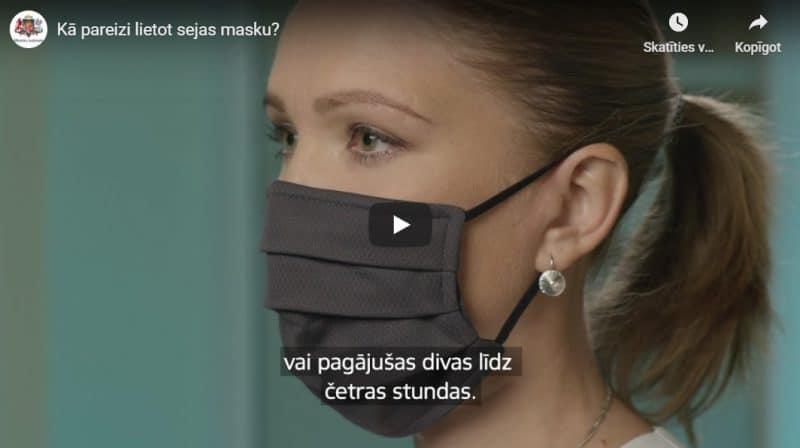 Video: Kā pareizi lietot sejas masku?