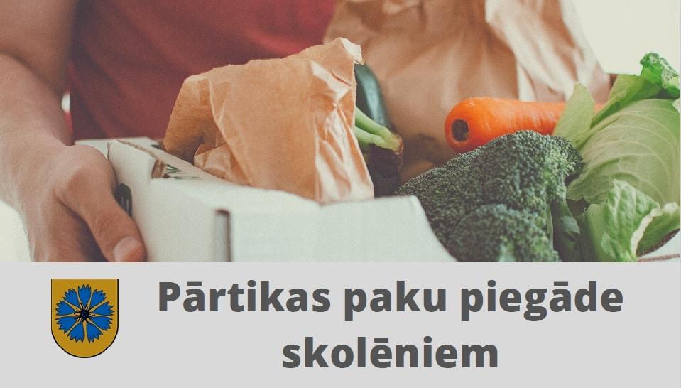Smiltenes novada pašvaldība uzsāk pārtikas paku piegādi skolēniem (Papildināts)
