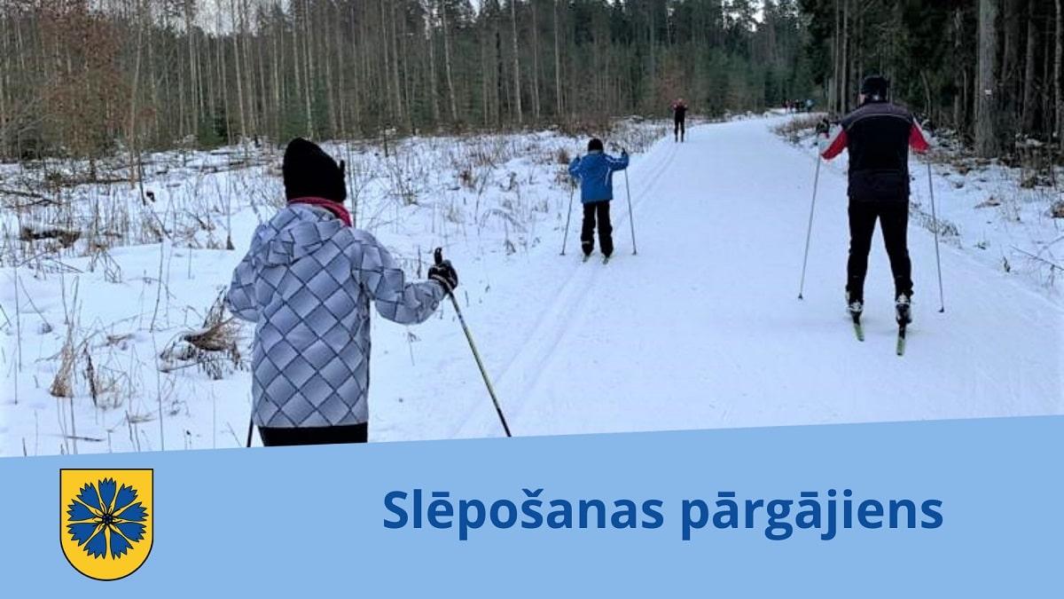 Aicina doties slēpošanas pārgājienā