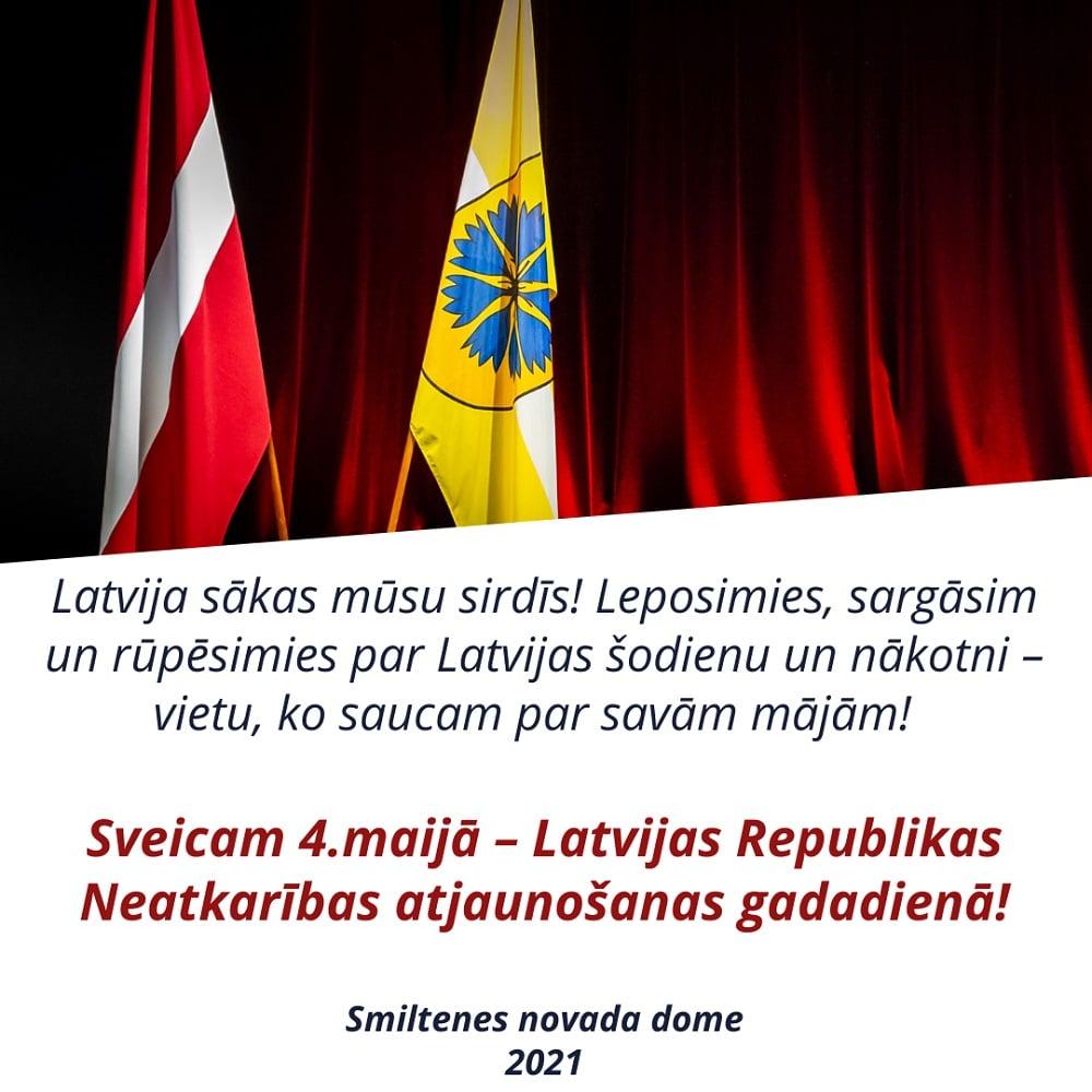 Sveicam 4.maijā – Latvijas Republikas Neatkarības atjaunošanas gadadienā!