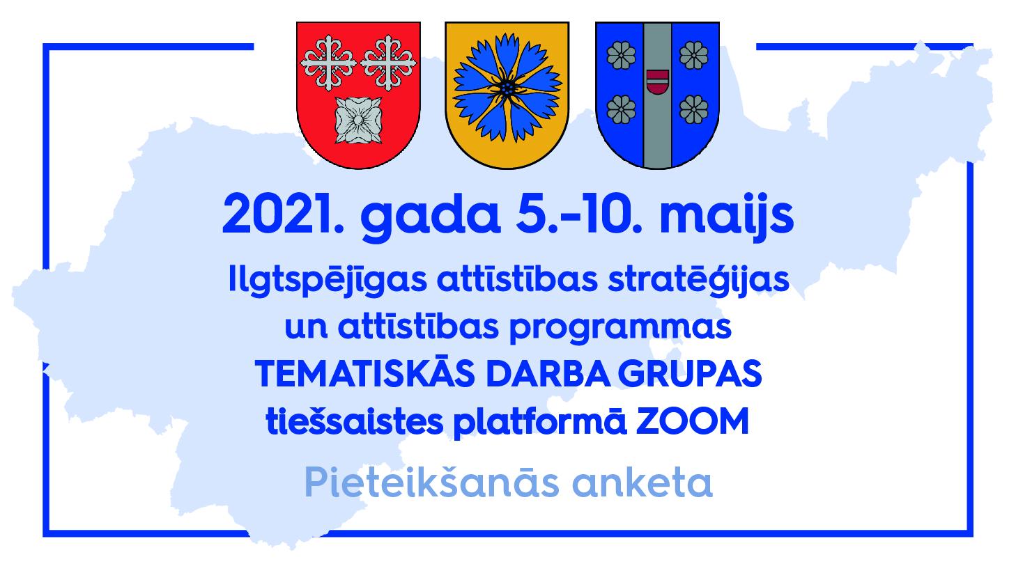 Maijā notiks Smiltenes novada plānošanas dokumentu izstrādes tematiskās darba grupas ZOOM platformā