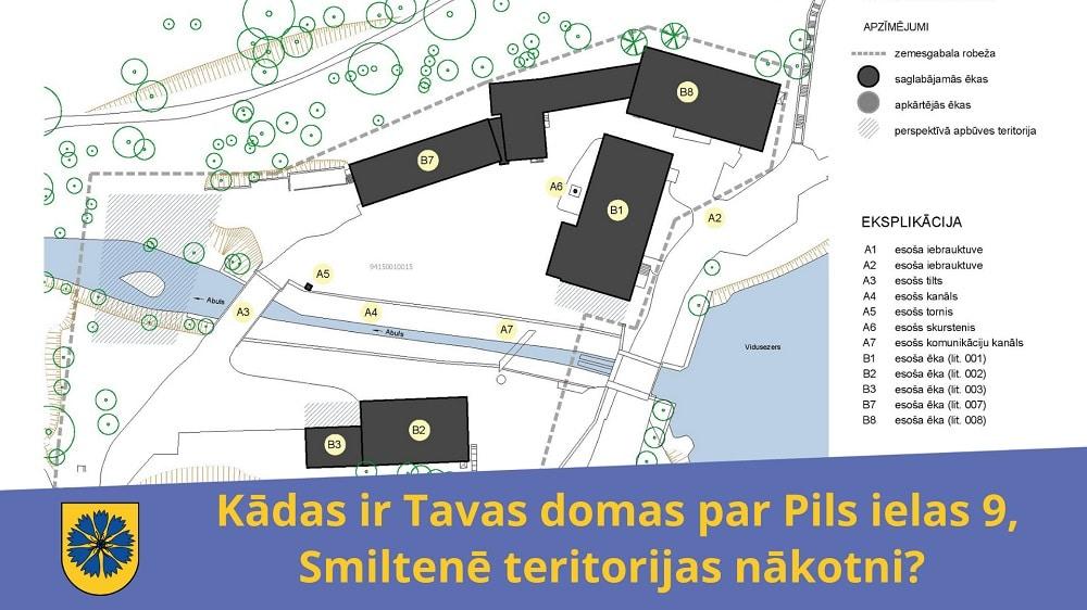 Kādas ir Tavas domas par Pils ielas 9, Smiltenē teritorijas nākotni?
