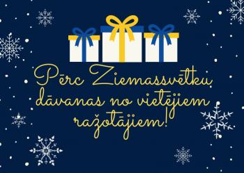 Pērc Ziemassvētku dāvanas no vietējiem ražotājiem