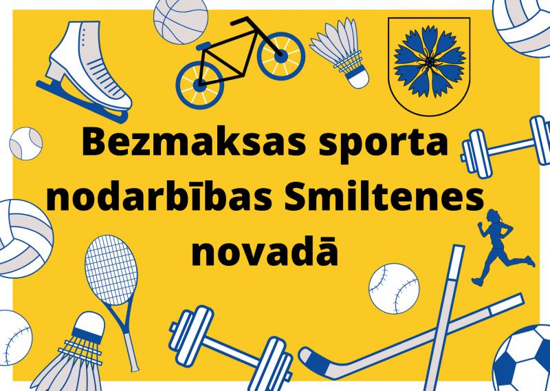 Bezmaksas sporta nodarbības Smiltenes novadā