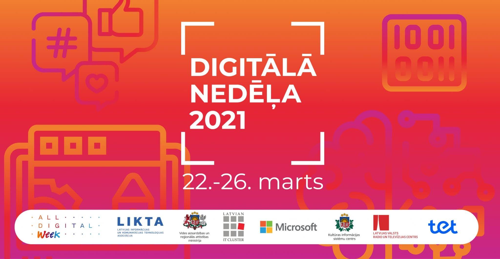 Sākusies Digitālā nedēļa 2021