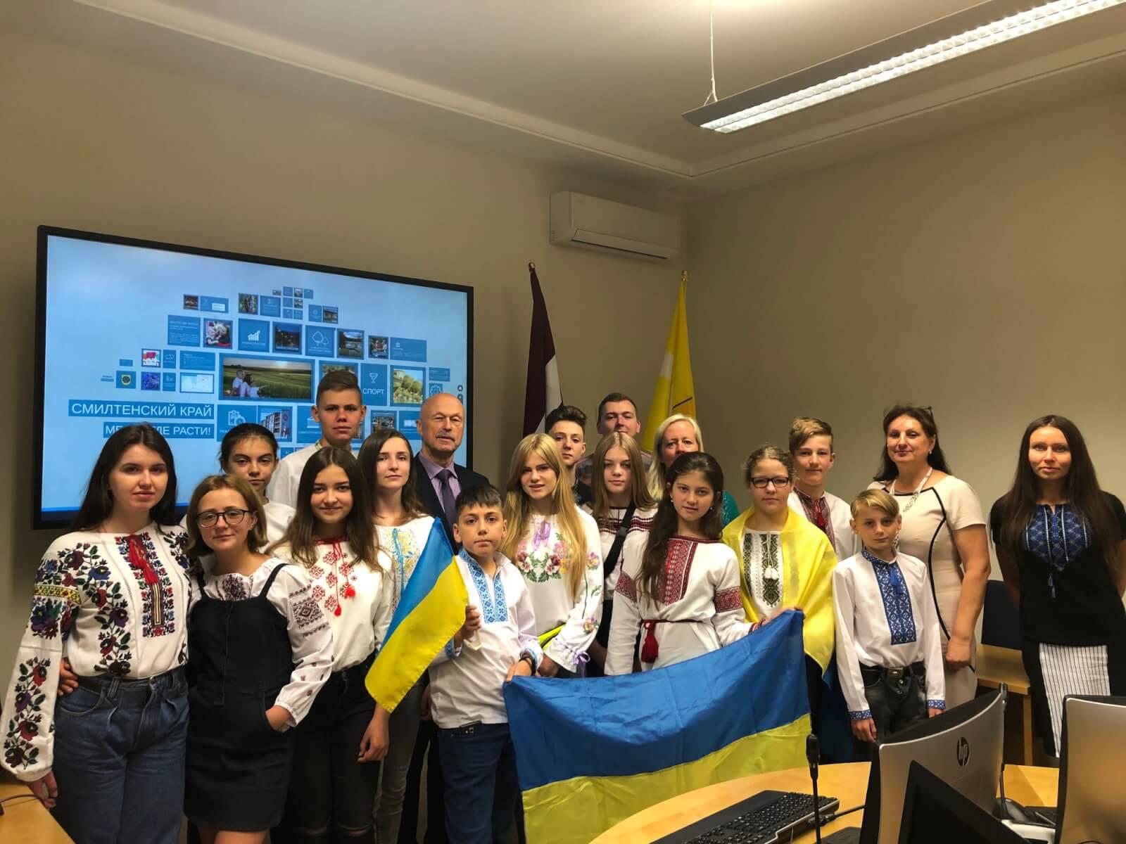 Smiltenē vasaras brīvdienās viesojās bērni un jaunieši no Ukrainas