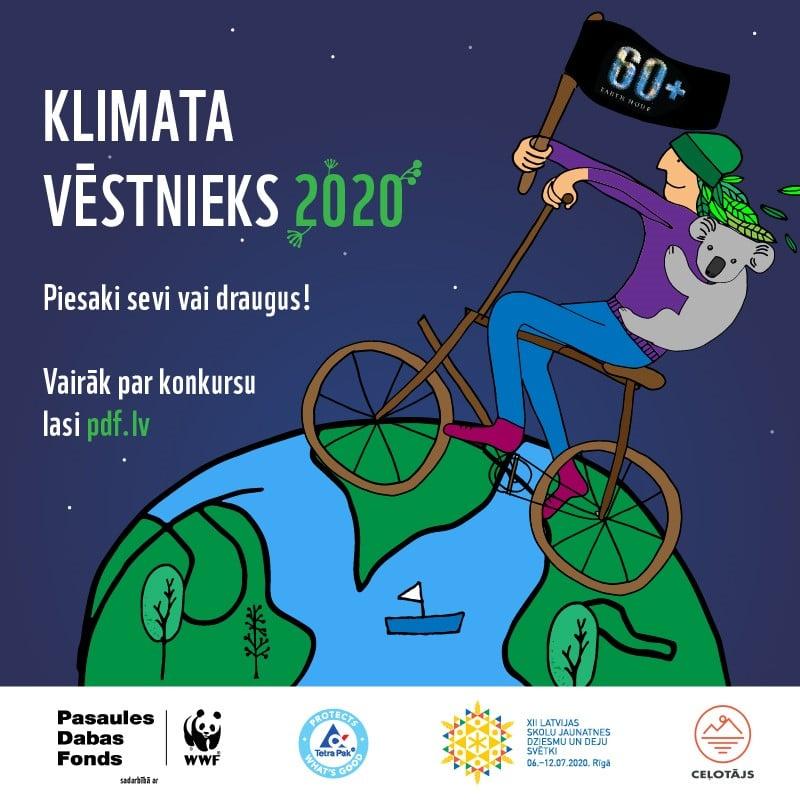 Pasaules Dabas Fonds meklē Klimata vēstnieku 2020