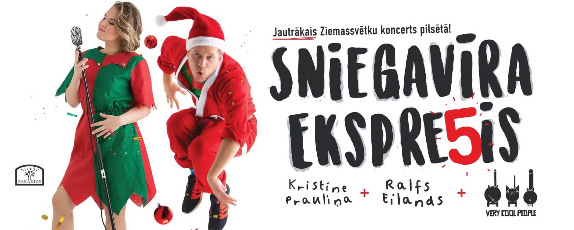 """Smiltenē piestās """"Sniegavīra ekspresis"""" – Ralfs Eilands, Kristīne Prauliņa un """"Very Cool People"""""""