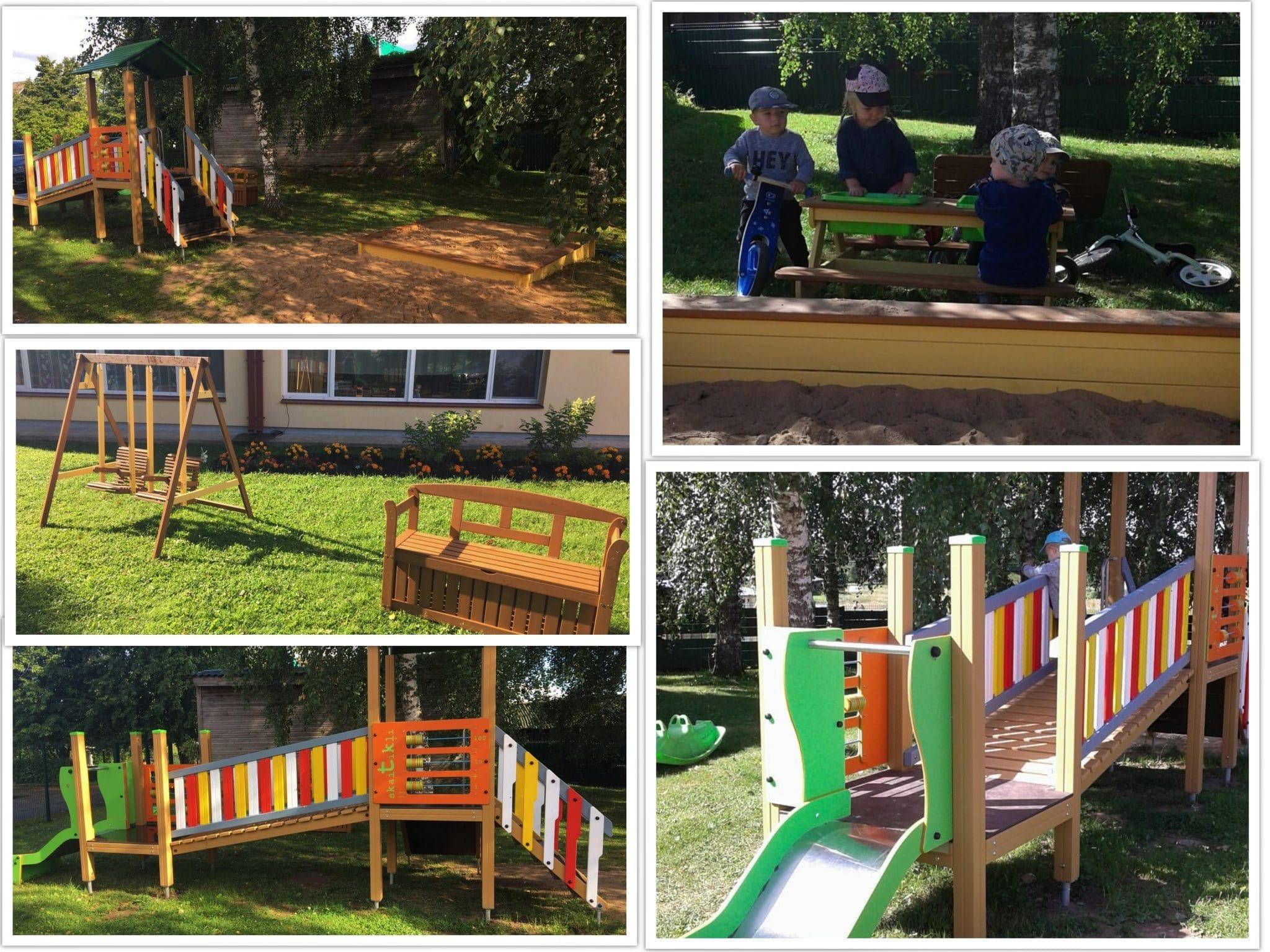 Launkalnes sākumskolas pirmsskolas izglītības grupu rotaļu laukumos uzstādītas jaunas iekārtas