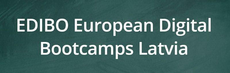 4. EDIBO Digital Bootcamp – ES finansētas programmētāju apmācības jauniešiem