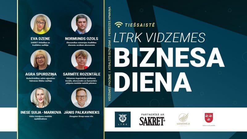 """Atvērta pieteikšanās LTRK Vidzemes biznesa dienai, kurā diskutēs par tēmu """"Talantu ekonomika Vidzemē"""""""