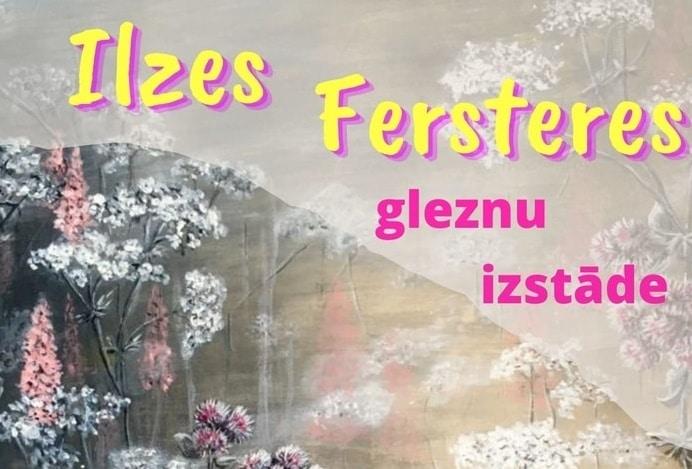 Drustu bibliotēkā apskatāma Ilzes Fersteres gleznu izstāde