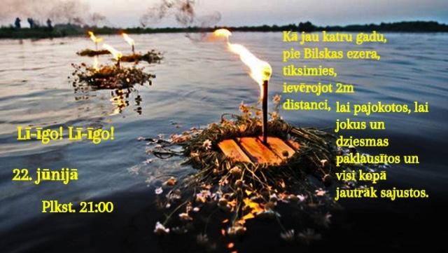 Pie Bilskas ezera notiks Jāņu ielīgošanas pasākums
