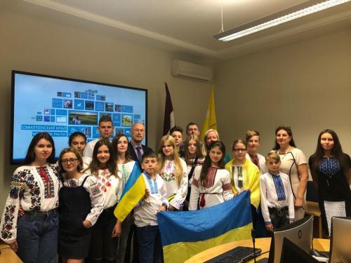 Smiltenē viesojas bērni no Ukrainas pilsētas Drogobičas